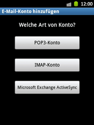 Samsung Galaxy Pocket - E-Mail - Manuelle Konfiguration - Schritt 7
