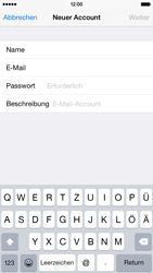 Apple iPhone 6 iOS 8 - E-Mail - Manuelle Konfiguration - Schritt 8