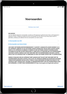 Apple ipad-pro-11-inch-2018-model-a1934 - Instellingen aanpassen - Activeer het toestel en herstel jouw iCloud-data - Stap 21