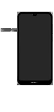 Huawei Y5 (2019) - Toestel - simkaart plaatsen - Stap 2