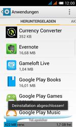 Alcatel One Touch Pop C3 - Apps - Eine App deinstallieren - Schritt 8