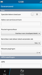 BlackBerry Z30 - sms - handmatig instellen - stap 9