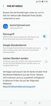 Samsung Galaxy S8 Plus - Datenschutz und Sicherheit - 'Mein Handy suchen' einschalten - 6 / 9
