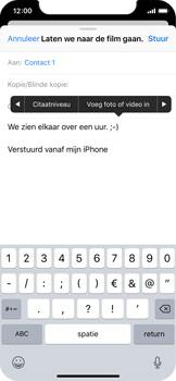 Apple iPhone X - e-mail - hoe te versturen - stap 10