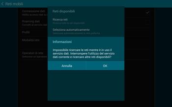 Samsung T805 Galaxy Tab S - Rete - Selezione manuale della rete - Fase 7
