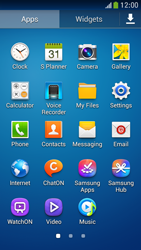 Samsung Galaxy S 4 Mini LTE - Getting started - Installing widgets and applications on your start screen - Step 6