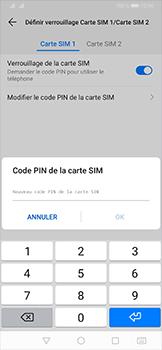 Huawei P30 - Sécurité - modifier SIM PIN - Étape 10