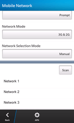 BlackBerry Z10 - Network - Manual network selection - Step 9