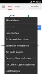 Sony Xperia J - Internet und Datenroaming - Verwenden des Internets - Schritt 11