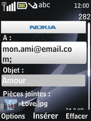 Nokia 2730 classic - E-mail - envoyer un e-mail - Étape 12