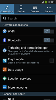 Samsung Galaxy Note III LTE - Internet and data roaming - How to check if data-connectivity is enabled - Step 4