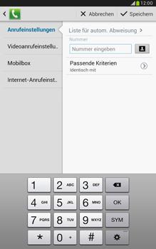 Samsung N5100 Galaxy Note 8-0 - Anrufe - Anrufe blockieren - Schritt 9