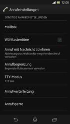Sony Xperia Z - Anrufe - Rufumleitungen setzen und löschen - Schritt 5