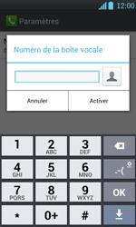 LG P700 Optimus L7 - Messagerie vocale - configuration manuelle - Étape 8