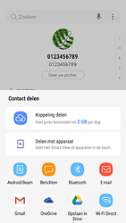 Samsung Galaxy S7 - Android Oreo - Contactgegevens overzetten - delen via Bluetooth - Stap 9