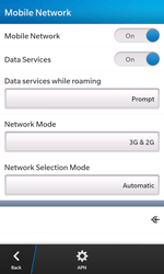 BlackBerry Z10 - Network - Manual network selection - Step 6