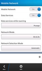 BlackBerry Z10 - Network - Manual network selection - Step 8