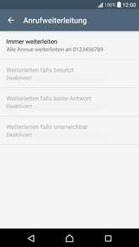 Sony F3211 Xperia XA Ultra - Anrufe - Rufumleitungen setzen und löschen - Schritt 8
