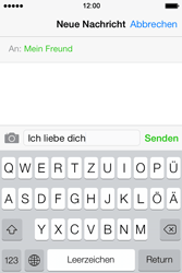Apple iPhone 4 S mit iOS 7 - MMS - Erstellen und senden - Schritt 10