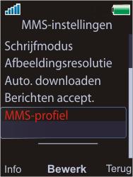 Sony W595 - MMS - Handmatig instellen - Stap 6