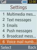 Samsung B2100 Xplorer - Voicemail - Manual configuration - Step 5