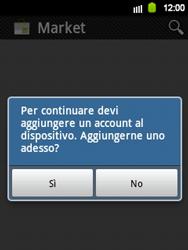 Samsung Galaxy Y - Applicazioni - Configurazione del negozio applicazioni - Fase 4