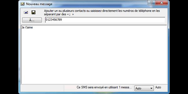 Huawei E1552 - Contact, Appels, SMS/MMS - Envoyer un SMS - Étape 7