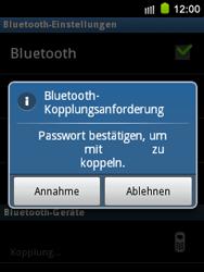 Samsung S5570 Galaxy Mini - Bluetooth - Geräte koppeln - Schritt 11