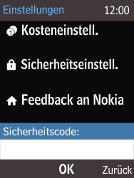 Nokia 225 - Gerät - Zurücksetzen auf die Werkseinstellungen - Schritt 4