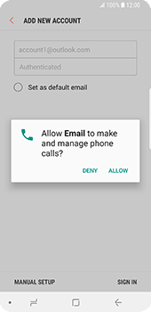 Samsung Galaxy S9 - E-mail - 032c. Email wizard - Outlook - Step 9