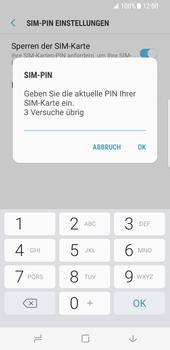 Samsung Galaxy S8 - Datenschutz und Sicherheit - PIN-Code der SIM-Karte ändern - 8 / 12