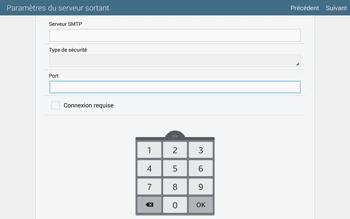 Samsung T805 Galaxy Tab S - E-mail - configuration manuelle - Étape 14