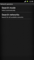 Sony Xperia J - Network - Manual network selection - Step 7