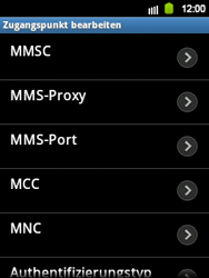 Samsung Galaxy Y - MMS - Manuelle Konfiguration - Schritt 12