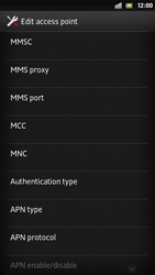Sony Xperia S - MMS - Manual configuration - Step 12