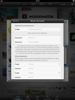 Apple iPad Retina - Apps - Einrichten des App Stores - Schritt 12