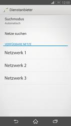 Sony Xperia Z3 - Netzwerk - Manuelle Netzwerkwahl - Schritt 8