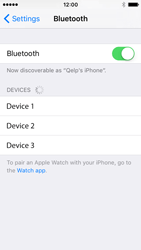 Apple iPhone SE - Bluetooth - Connecting devices - Step 7