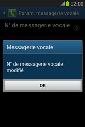 Samsung S6310 Galaxy Young - Messagerie vocale - Configuration manuelle - Étape 9