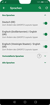 Huawei P20 - Android Pie - Startanleitung - So fügen Sie eine Tastatursprache hinzu - Schritt 12