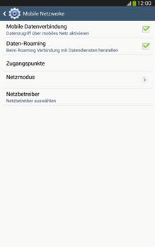 Samsung Galaxy Tab 3 8-0 LTE - Ausland - Im Ausland surfen – Datenroaming - 0 / 0