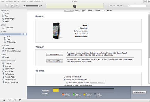 Apple iPhone 5c iOS 9 - Software - Eine Sicherungskopie des Geräts erstellen - Schritt 4
