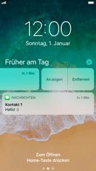 Apple iPhone 8 - iOS 11 - Sperrbildschirm und Benachrichtigungen - 2 / 2
