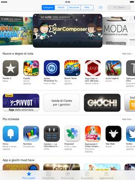 Apple iPad mini iOS 7 - Applicazioni - configurazione del negozio applicazioni - Fase 3