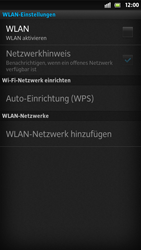 Sony Xperia S - WLAN - Manuelle Konfiguration - 2 / 2