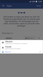 Samsung Galaxy S7 - Datenschutz und Sicherheit - Datenschutzeinstellungen von Facebook ändern - 17 / 35