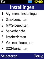 Samsung B550H Xcover 550 - Voicemail - Handmatig instellen - Stap 5