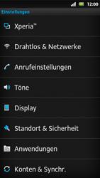 Sony Xperia Sola - Ausland - Im Ausland surfen – Datenroaming - 6 / 12