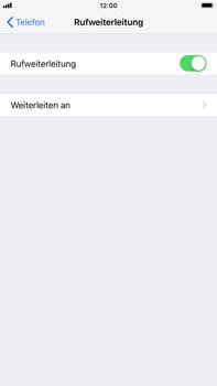 Apple iPhone 7 Plus - iOS 12 - Anrufe - Rufumleitungen setzen und löschen - Schritt 6