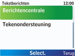 Nokia C3-00 - SMS - Handmatig instellen - Stap 7